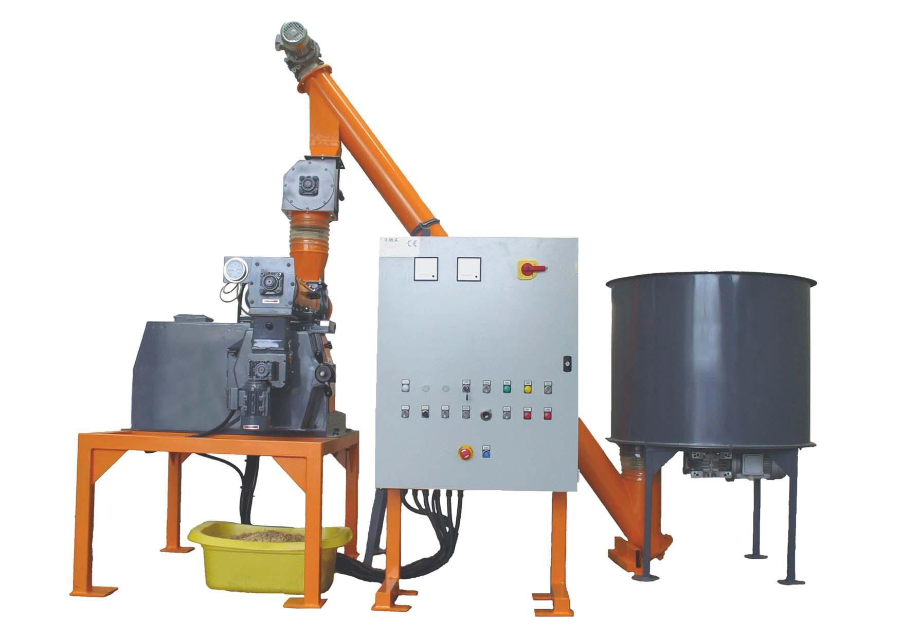 Мини линия гранулирования древесных опилок (80/100/120 кг/час) / Италия  (OMI)